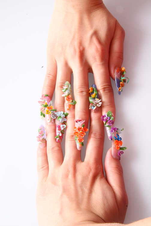 Stylish Crazy 3d Nail Designs - Nail Picture Art