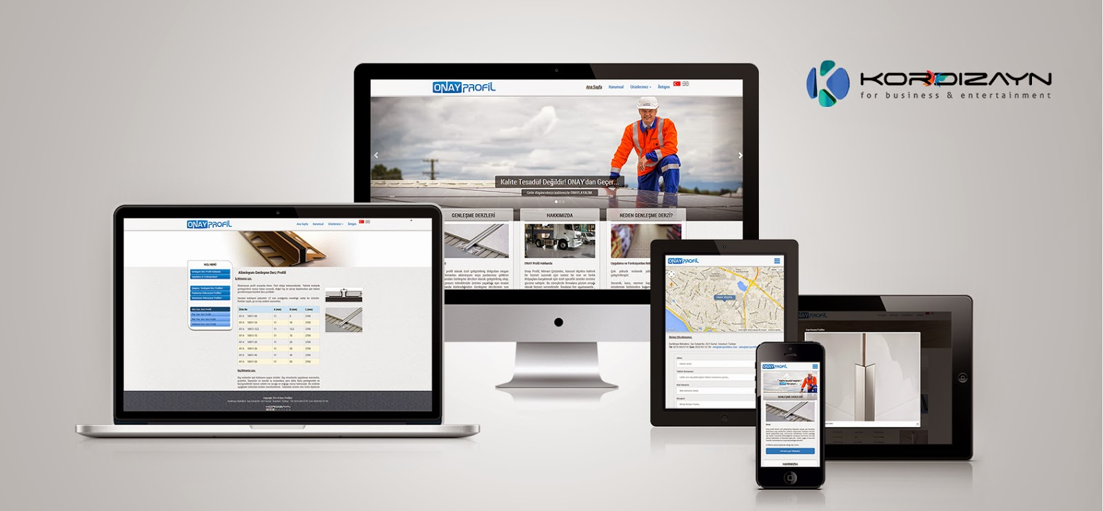 Onay Profil Responsive Web Pages