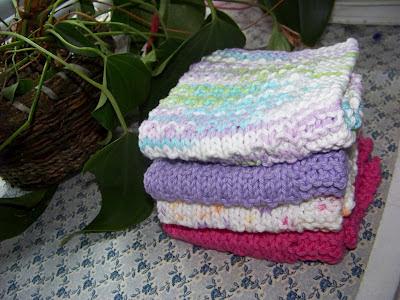 Berkshire Cottage Easy Dishcloth Knitting Pattern