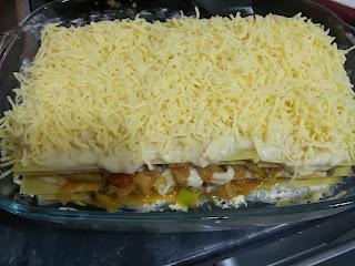 lasana con queso