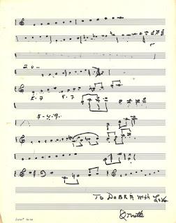 Ornette Coleman pens a musical manuscript of his jazz philosophy