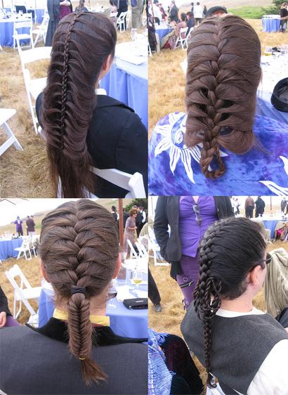 Peinados para fiestas con trenzas
