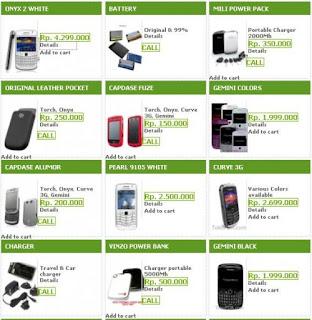 Daftar harga BlcakBerry (gambar)