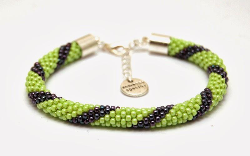 bransoletka koralikowa szydełkowa bead crochet bracelet 14