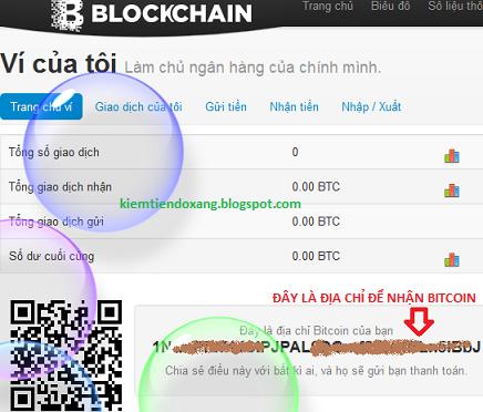 Tạo ví bitcoin với Blockchain