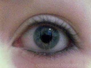 A photo of my eye without the mascara