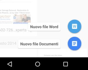 creare documenti word su android