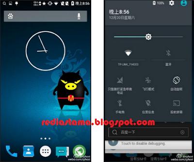 Cara Upgrage Xiaomi Redmi 1S ke Lollipop 5.2