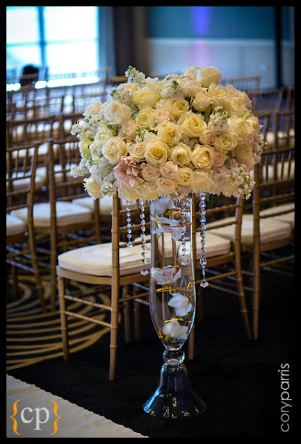 luxury floral design, Vendella roses, crystal strands, - Flora Nova Design, Seattle