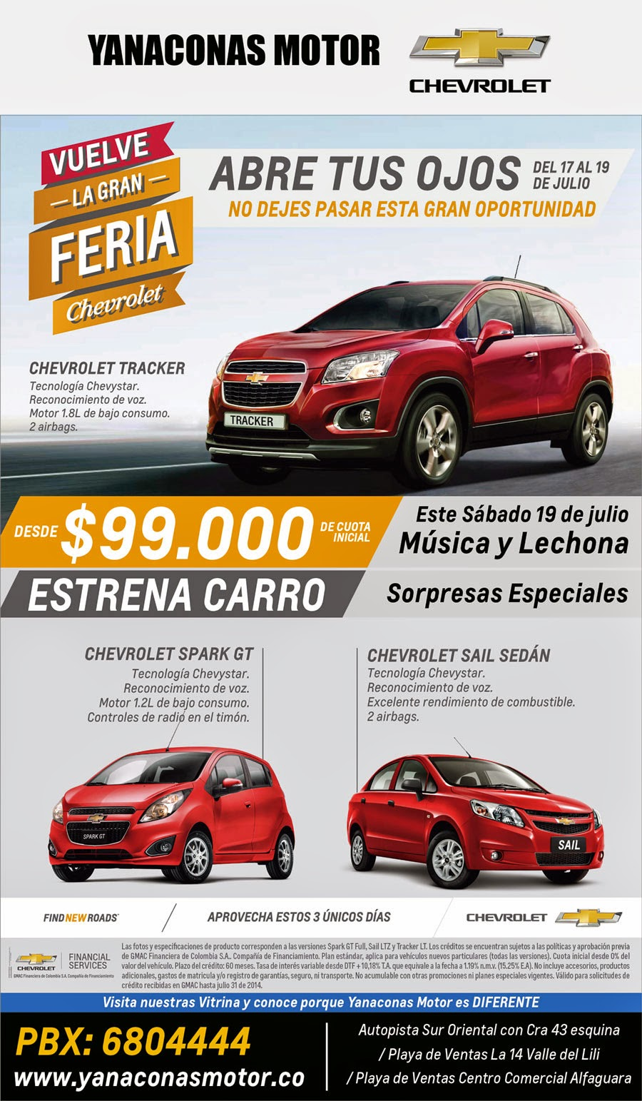 Yanaconas motor concesionario chevrolet carros nuevos for Espaillat motors vehiculos usados