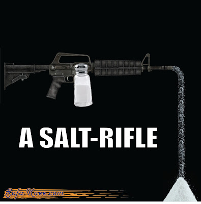 A salt-rifle assault rifle pun sofa-knee