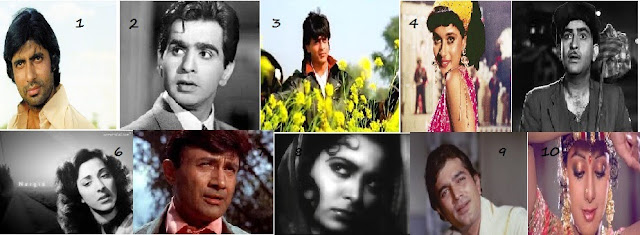 Top 10 Bollywood stars of 100 years of Hindi Cinema