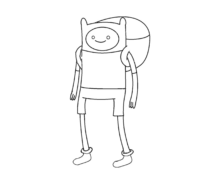 free coloring pages of adventure time finn