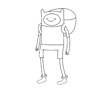 #9 Finn Coloring Page