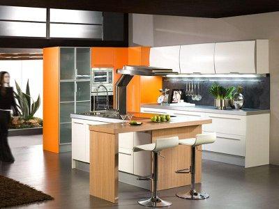 Decoraciones y hogar decoraci n de cocinas color naranja for Decoracion hogar naranja