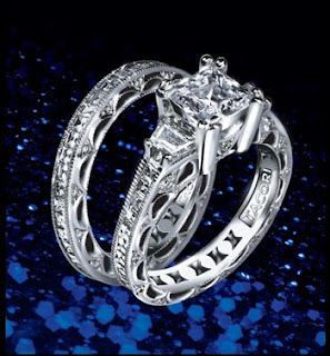 fake tacori wedding rings