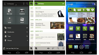 Evernote 4 for Android uses the Holo interface from Android 4.0, 'Ice Cream Sandwich'.