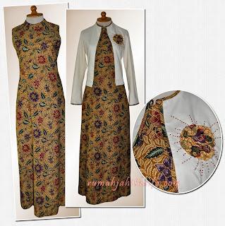 Foto Model Baju Batik Semi Blazer