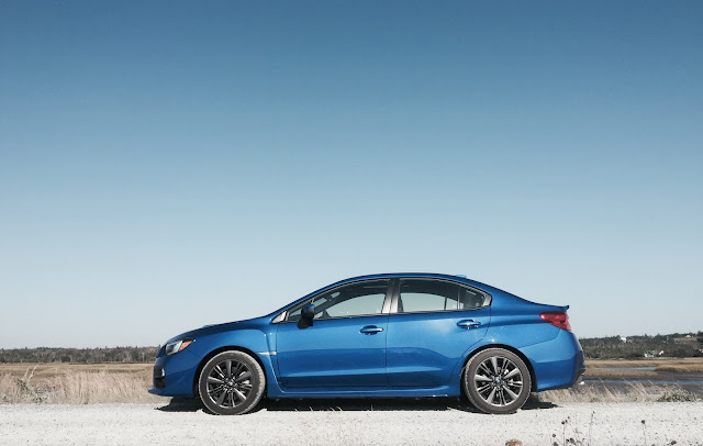 2016 Subaru WRX Rally Blue side angle