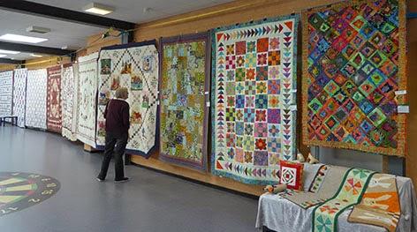 Quilte Festivallen viser patchwork tæpper