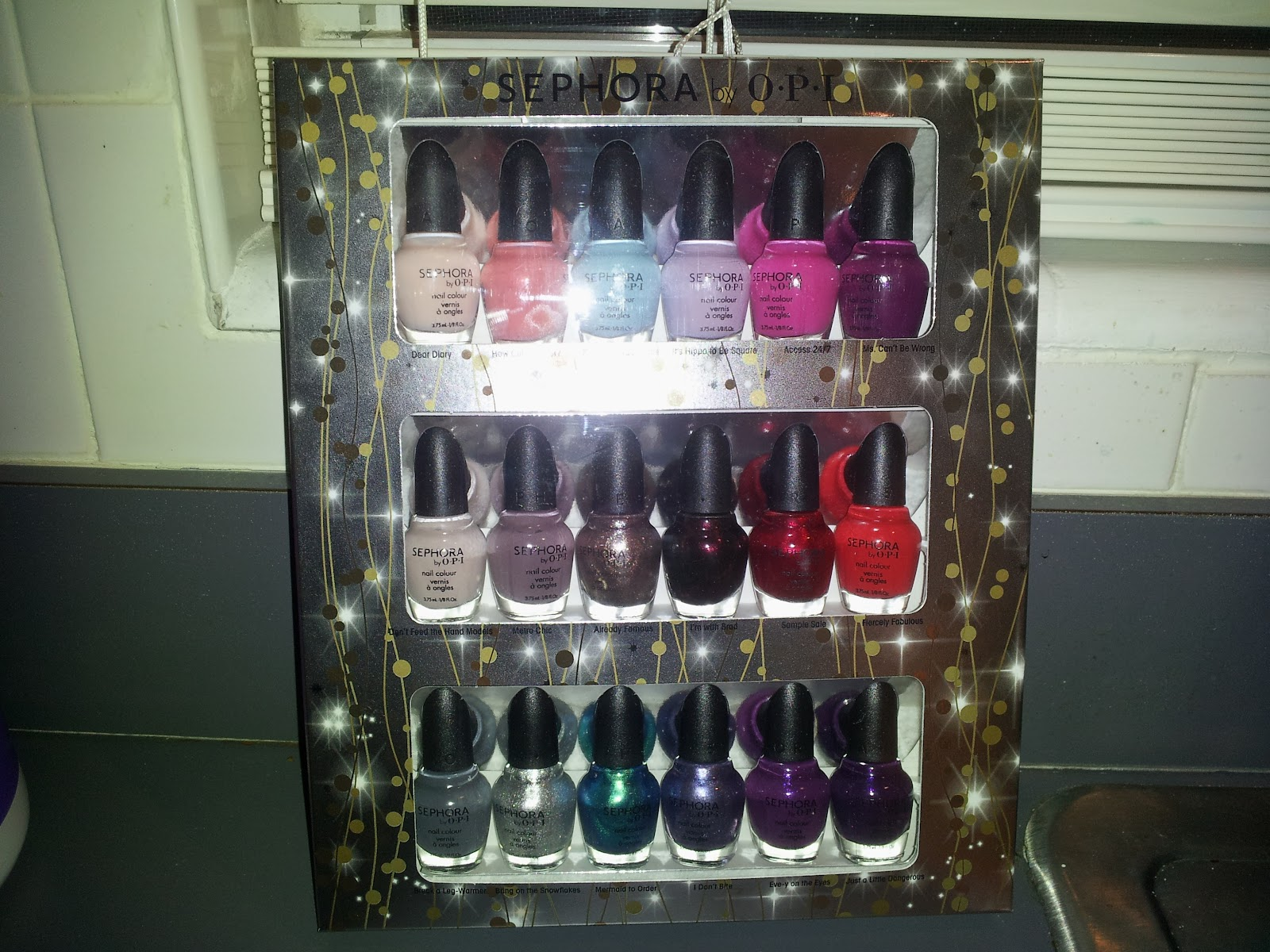 Sephoria Mini Haul Opi 18 Nail Polish Kit Plus Sweet Blog Award