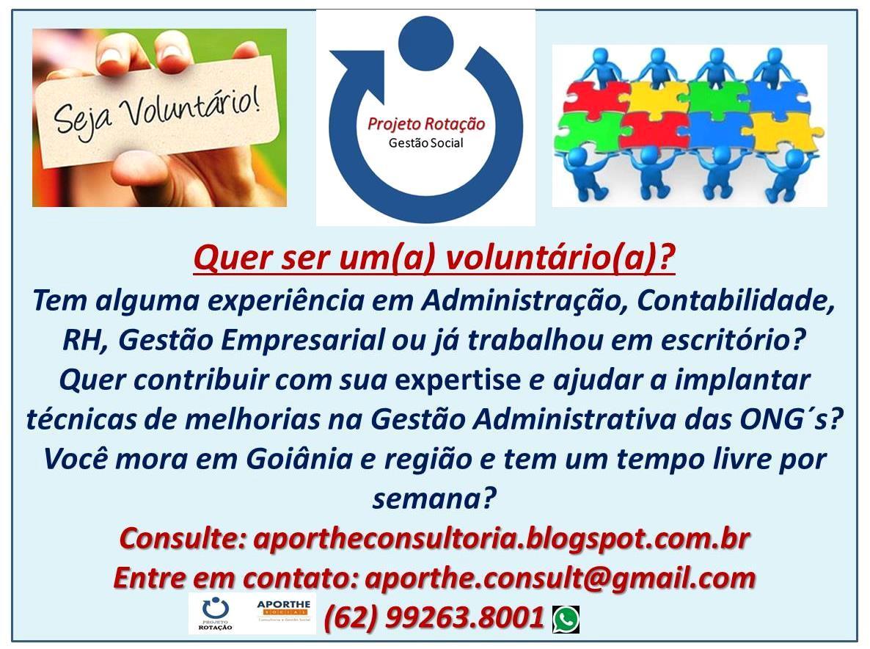 Seja Voluntário(a) em Goiás - Clique aqui e saiba mais!