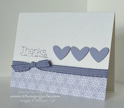 Quick Rubber Stamp Thank You Card Ideas
