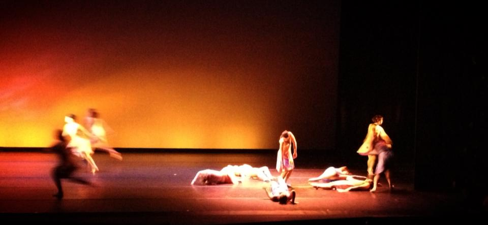 Here is a picture of some random dance company's performance. Dance is a pretty good example as they are basically ALL about the space. But so is theatre, I suppose.