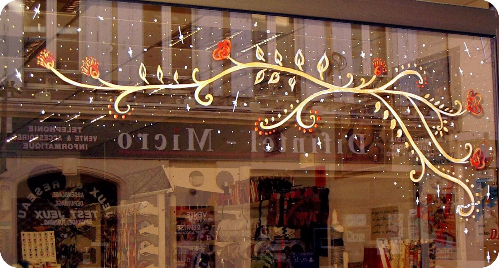 #AE351D Mickaëlle Delamé: Vitrines Peintes Pour Noël 5491 décorations de noel pour vitres 1600x861 px @ aertt.com