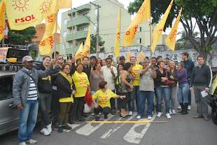 Concentração do PSOL na Vila Duzzi - SBC