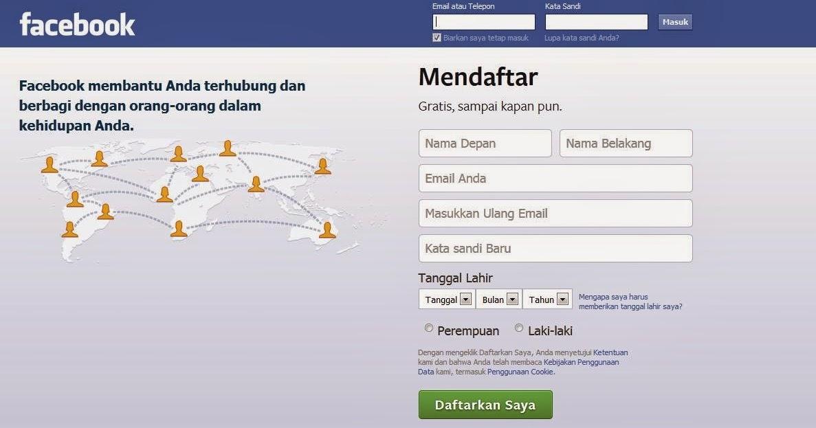 mas toro blogs: Daftar Facebook Baru Gratis