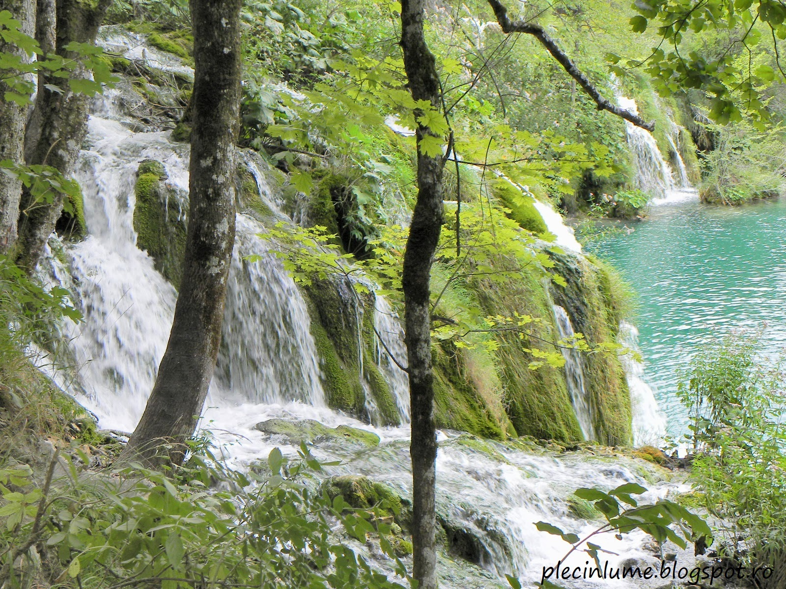 Cascade mai inalte la Plitvice