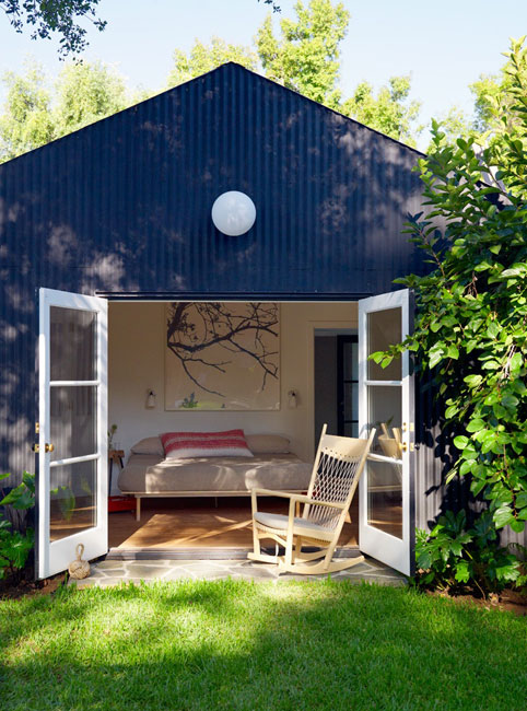 Backyard Guest House Kits : Mix and Chic Home tour A charming guest house and backyard escape in