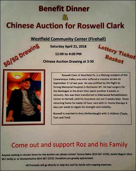 3-21 Benefit for Roswell Clark, Westfield
