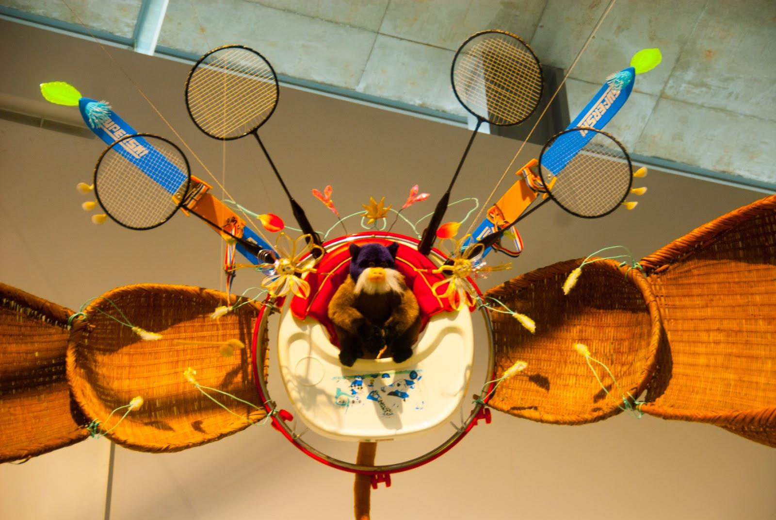 越後妻有里山現代美術館 キナーレ 展示 バドミントン ラケット