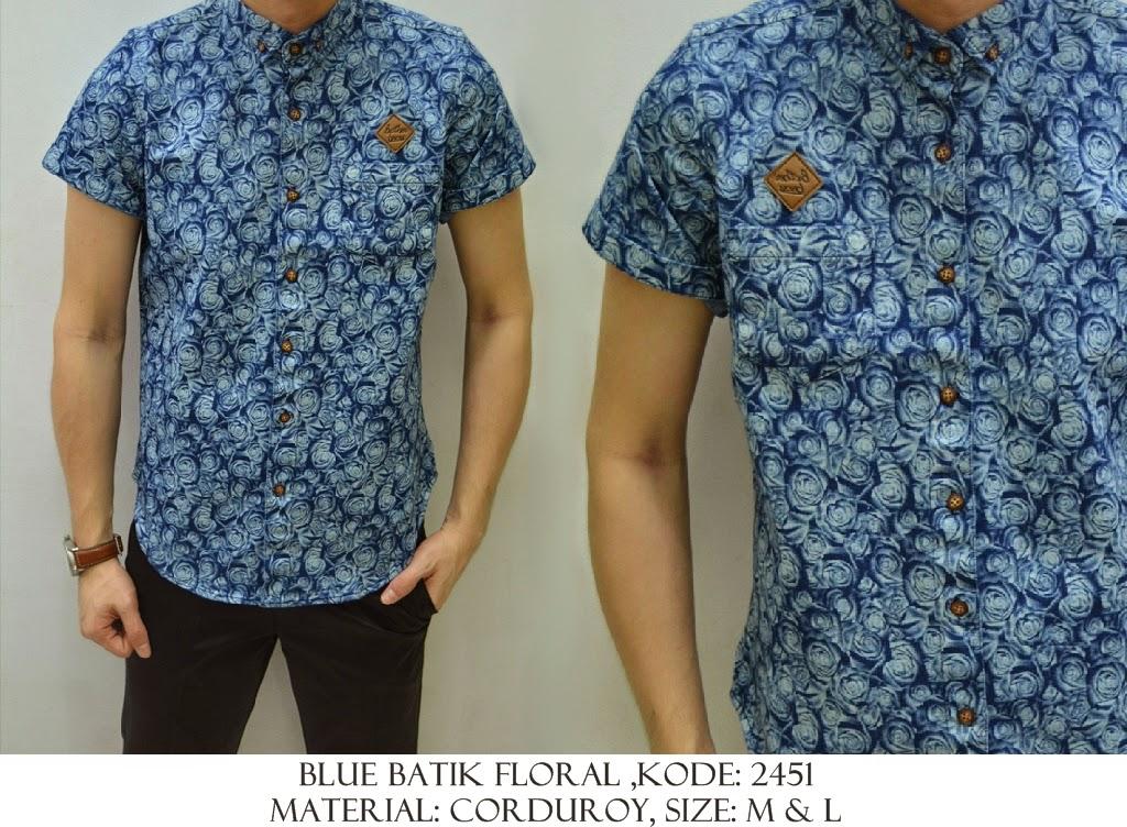 Baju Distro & Baju Kemeja Blue Batik