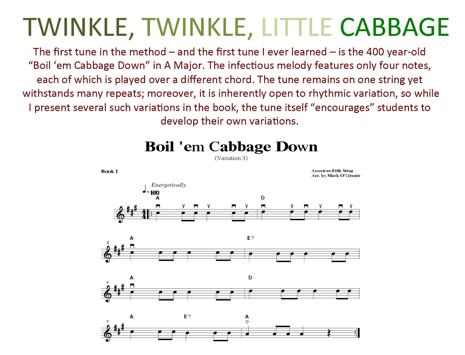 Twinkle Twinkle Little Cabbage Parting Shots From A Musicians