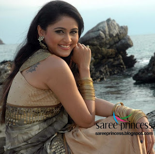 tollywood super hot actress bianca desai in her latest film in saree