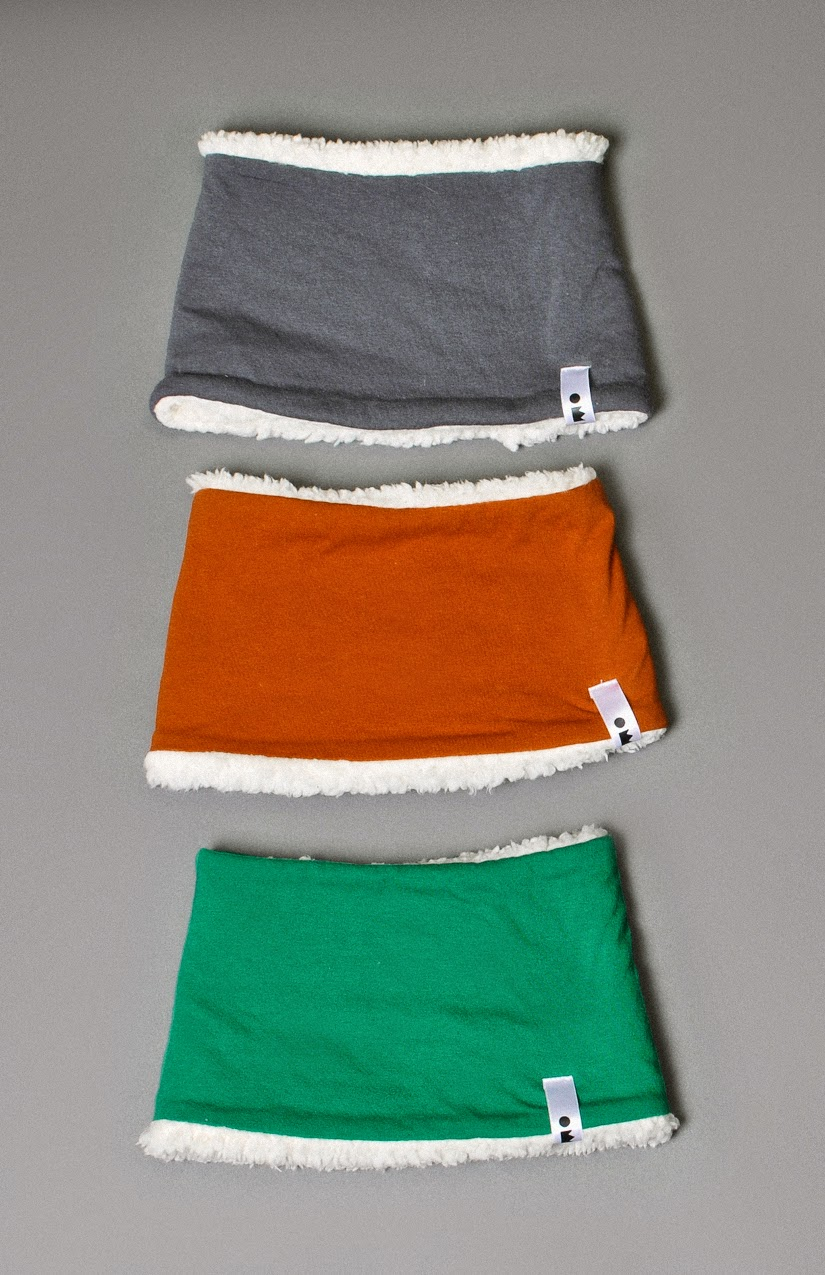 Cosy sherpa scarfs by Omamimini for Autumn/Winter  2014-15  kidswear collecion