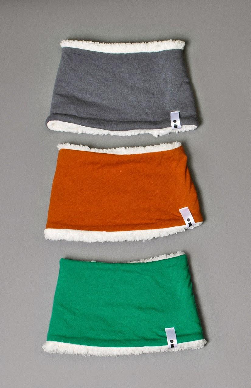 Cosy sherpa scarfs by Omamimini for Autumn/Winter  2014-15  kidswear collecion