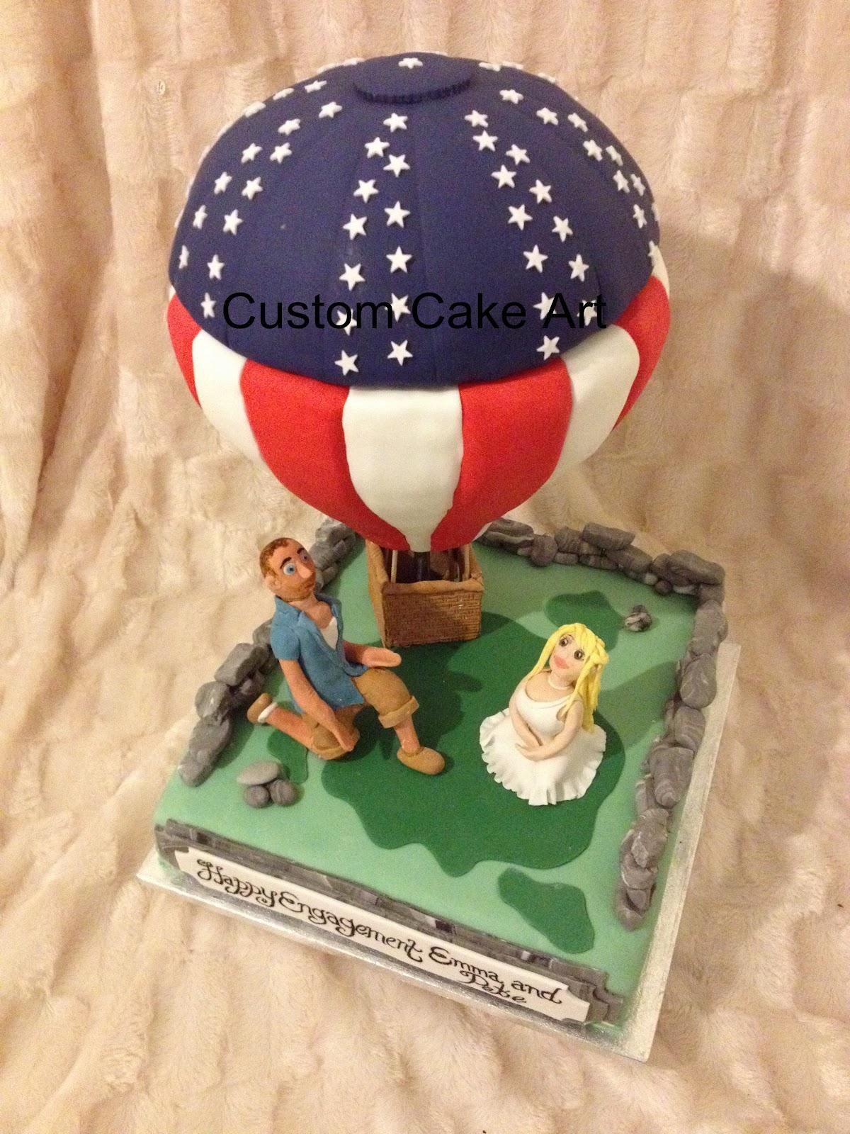 Cake Art Usa : Custom Cake Art: USA Hotair Balloon Cake