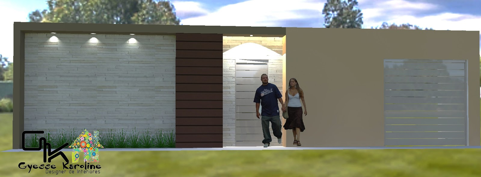 Fabuloso Construindo Minha Casa Clean: Fachadas! Muros, grades e portões  ZQ99