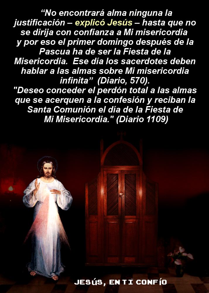 fotografia de texto del diario para invitacion de jesus misericordiosos a su fiesta