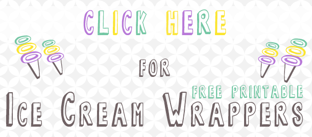 Four Free Printable Ice Cream Wrappers  | www.blackandwhiteobsession.com