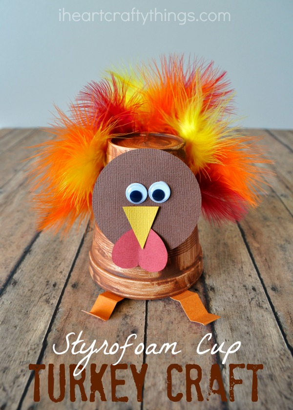 Paper Plate Yarn Weaving Turkey Craft I Heart Crafty Things