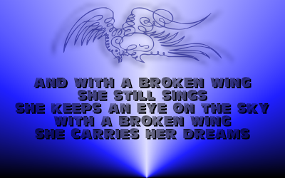 A Broken Wing - Martina McBride Song Lyric Quote in Text Image