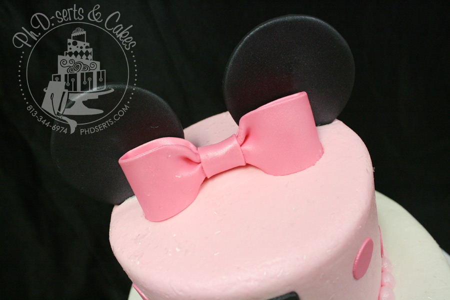 Minnie Mouse 1st Birthday Cake PhDserts Cakes