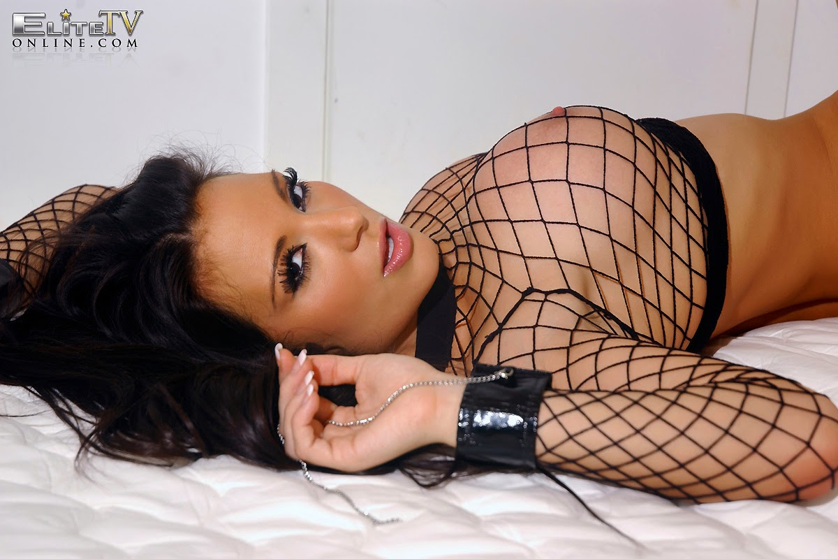 Tiffany Chambers sexy fishnet via EliteTV indianudesi.com