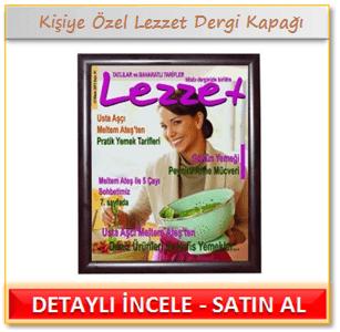 Kişiye Özel Lezzet Dergi Kapağı