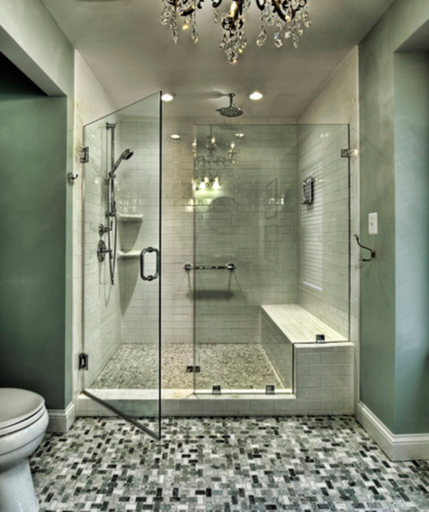 Should I replace the brass and glass shower door with a frameless style Greensboro Interior Design   Window Treatments Greensboro   Custom  . Replacing Glass Shower Doors With A Curtain. Home Design Ideas